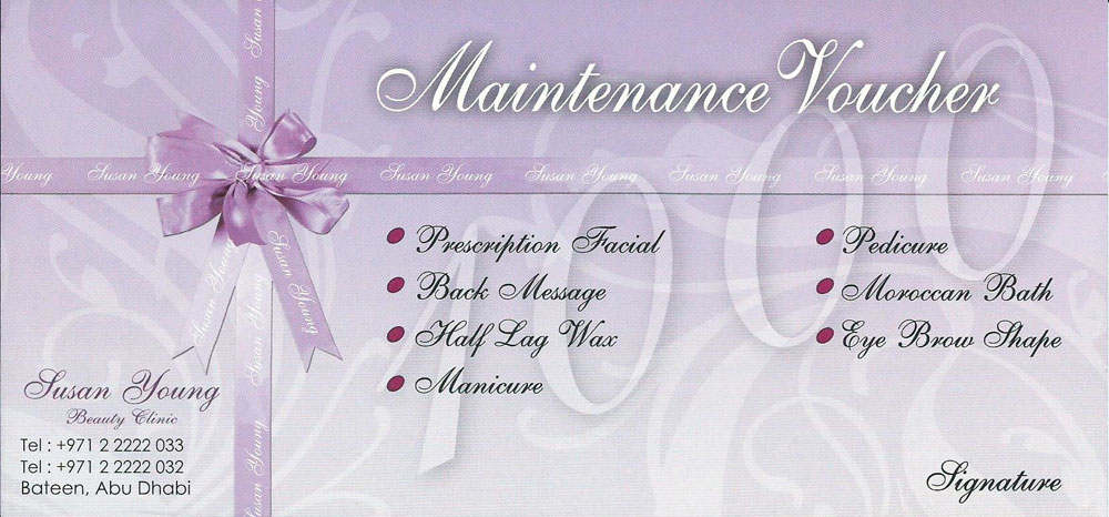 Maintenance Voucher
